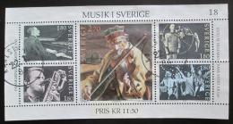Poštovní známky Švédsko 1983 Hudba Mi# Block 11