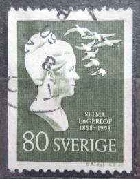 Poštovní známka Švédsko 1958 Selma Lagerlöf, básníøka Mi# 445 C