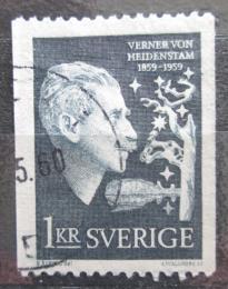 Poštovní známka Švédsko 1959 Verner von Heidenstam, spisovatel Mi# 450 C