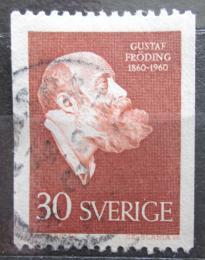 Poštovní známka Švédsko 1960 Gustav Fröding, básník Mi# 461 C