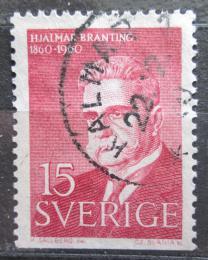 Poštovní známka Švédsko 1960 Hjalmar Branting, politik Mi# 465 Du
