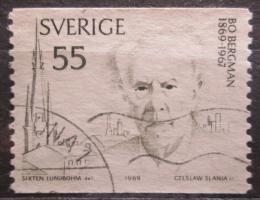 Poštovní známka Švédsko 1969 Bo Bergman, básník Mi# 654 A