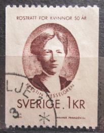 Poštovní známka Švédsko 1971 Kerstin Hesselgren, politièka Mi# 703 C