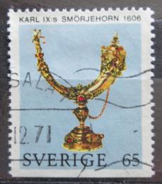 Poštovní známka Švédsko 1971 Královský roh Mi# 727 Du
