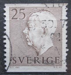 Poštovní známka Švédsko 1957 Král Gustav VI. Adolf Mi# 423