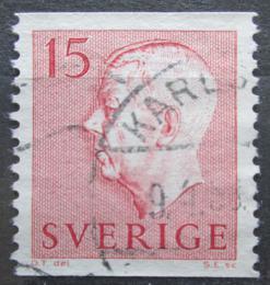 Poštovní známka Švédsko 1957 Král Gustav VI. Adolf Mi# 424 A