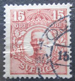 Poštovní známka Švédsko 1911 Král Gustav V. Mi# 73