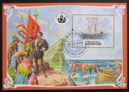 Poštovní známka Gabon 2019 Plachetnice, objevení Ameriky Mi# N/N