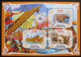 Poštovní známky Gabon 2019 Antické lodì Mi# N/N