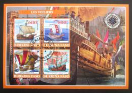 Poštovní známky Burkina Faso 2019 Plachetnice Mi# N/N - zvìtšit obrázek
