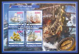 Poštovní známky Burkina Faso 2019 Plachetnice Mi# N/N