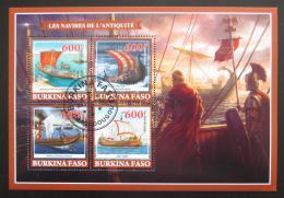 Poštovní známky Burkina Faso 2019 Antické plachetnice Mi# N/N - zvìtšit obrázek