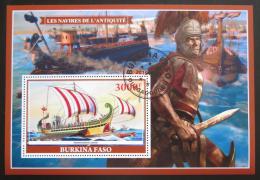 Poštovní známka Burkina Faso 2019 Antické plachetnice Mi# N/N