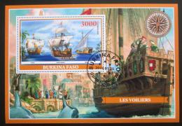 Poštovní známka Burkina Faso 2019 Plachetnice Mi# N/N