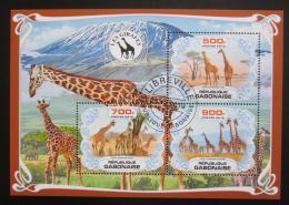 Poštovní známky Gabon 2019 Žirafy Mi# N/N