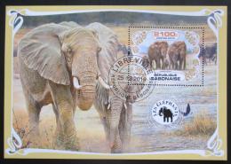 Poštovní známka Gabon 2019 Sloni Mi# N/N