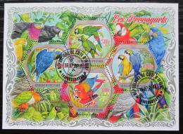 Poštovní známky Pobøeží Slonoviny 2018 Papoušci Mi# N/N