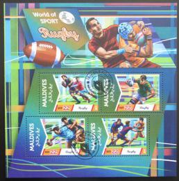 Poštovní známky Maledivy 2015 Rugby Mi# 5755-58 Kat 11€