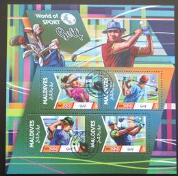 Poštovní známky Maledivy 2015 Golf Mi# 5785-88 Kat 11€