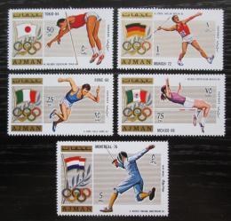 Poštovní známky Adžmán 1971 Olympijští vítìzové Mi# 1210-14