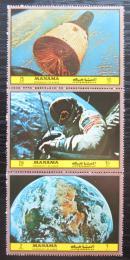 Poštovní známky Manáma 1972 Prùzkum vesmíru Mi# 1088-90