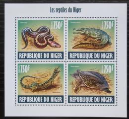 Poštovní známky Niger 2013 Obojživelníci a plazi Mi# 2426-29 Kat 12€
