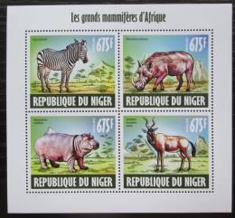 Poštovní známky Niger 2013 Africká fauna Mi# 2411-14 Kat 10€