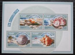 Poštovní známky Niger 2014 Mušle Mi# 3035-38 Kat 12€