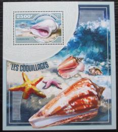 Poštovní známka Niger 2014 Mušle Mi# Block 351 Kat 10€