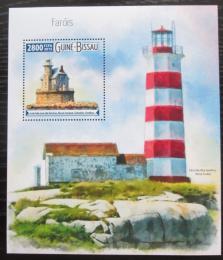 Poštovní známka Guinea-Bissau 2015 Majáky Mi# Block 1410 Kat 11€