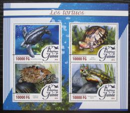Poštovní známky Guinea 2016 Želvy Mi# 11666-69 Kat 16€
