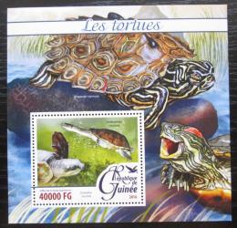 Poštovní známka Guinea 2016 Želvy Mi# Block 2629 Kat 16€