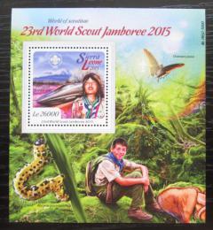 Poštovní známka Sierra Leone 2015 Setkání skautù Mi# Block 894 Kat 12€