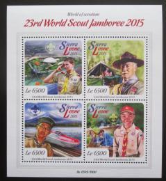 Poštovní známky Sierra Leone 2015 Setkání skautù Mi# 6808-11 Kat 12€