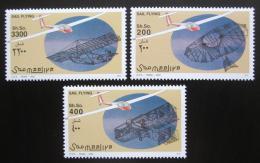 Poštovní známky Somálsko 2002 Bezmotorová letadla Mi# 995-97 Kat 14€