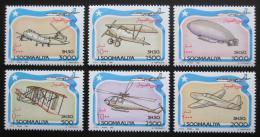Poštovní známky Somálsko 1993 Letectví TOP SET Mi# 485-90 Kat 30€