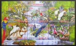 Poštovní známky Somálsko 2017 Papoušci Mi# N/N