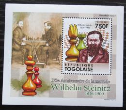 Poštovní známka Togo 2011 Wilhelm Steinitz, šachy DELUXE Mi# 4009 Block