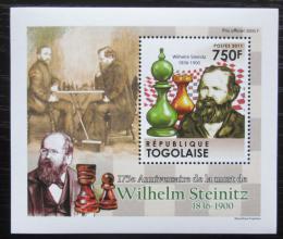 Poštovní známka Togo 2011 Wilhelm Steinitz, šachy DELUXE Mi# 4010 Block