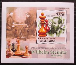 Poštovní známka Togo 2011 Wilhelm Steinitz, šachy DELUXE Mi# 4011 Block