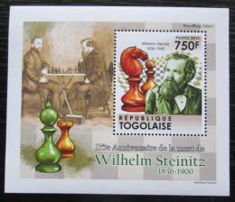Poštovní známka Togo 2011 Wilhelm Steinitz, šachy DELUXE Mi# 4012 Block