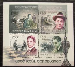 Poštovní známky Togo 2012 José Raúl Capablanca, šachy Mi# 4543-46 Kat 12€