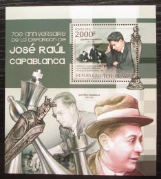 Poštovní známka Togo 2012 José Raúl Capablanca, šachy Mi# Block 725 Kat 8€