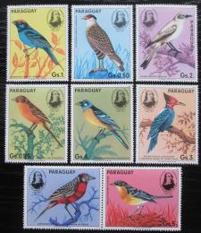 Poštovní známky Paraguay 1985 Ptáci, Audubon s kupónem Mi# 3863-69