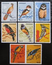 Poštovní známky Paraguay 1983 Ptáci s kupónem Mi# 3668-74