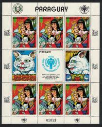 Poštovní známky Paraguay 1982 Kocour v botách Mi# 3488 Bogen Kat 19€