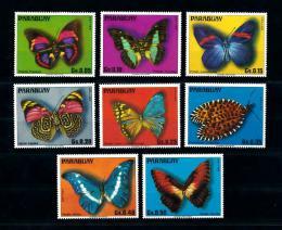 Poštovní známky Paraguay 1976 Motýli Mi# 2794-2801 Kat 8.50€