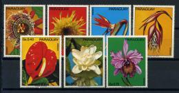 Poštovní známky Paraguay 1973 Kvìtiny Mi# 2525-31 Kat 9€