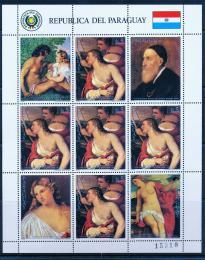 Poštovní známky Paraguay 1986 Umìní, Tizian Mi# 3939 Bogen Kat 14€