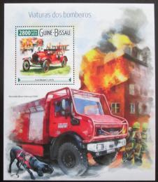 Poštovní známka Guinea-Bissau 2015 Hasièská auta Mi# Block 1409 Kat 11€